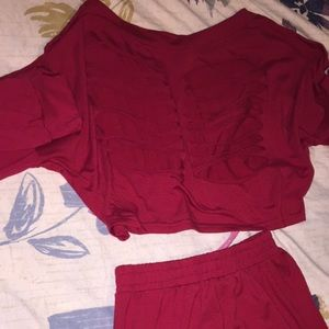 Other - Women's M Red Two piece Pants set